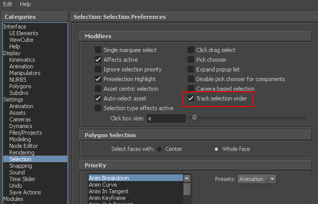 Maya Station: Retrieve polygon components in the order they are selected